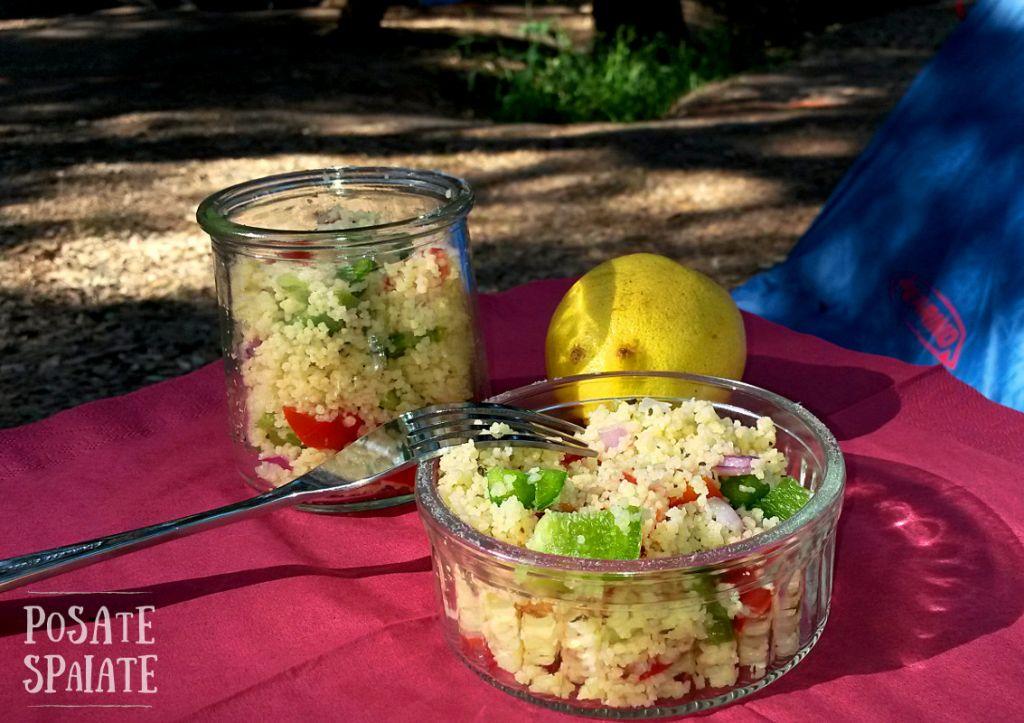 tabuleh veloce con verdure fresche di stagione