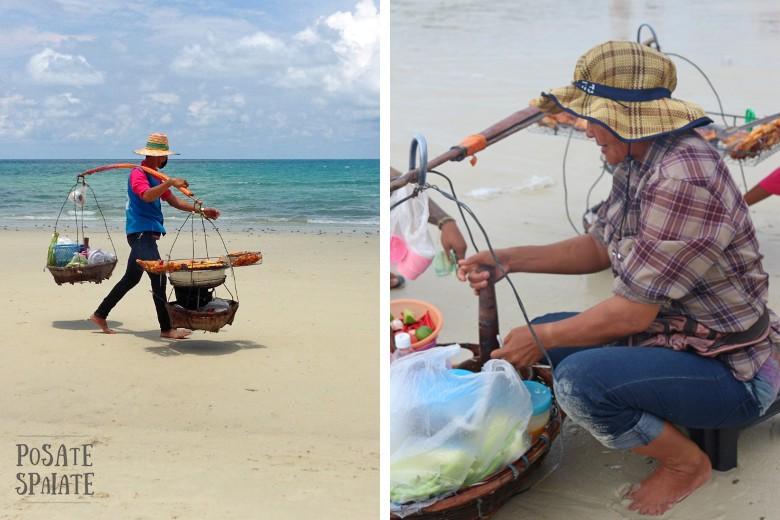 venditori in spiaggia Kho Samet