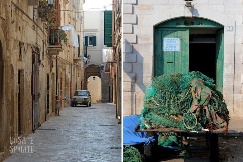 Puglia vicoli e porto di Trani - Posate Spaiate
