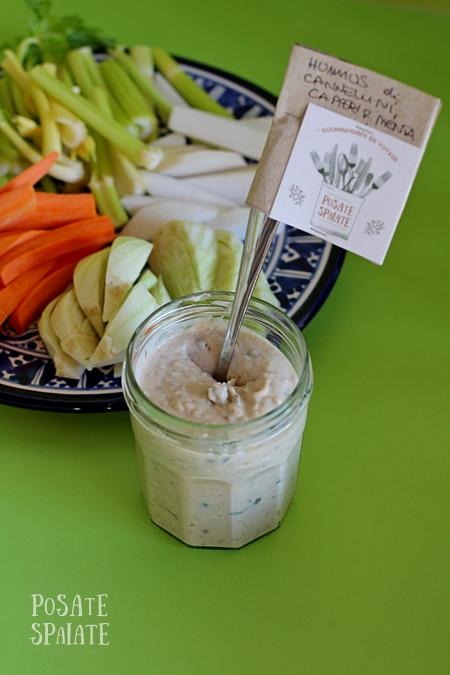 Hummus di cannellini e capperi per un pranzo…all'asilo!