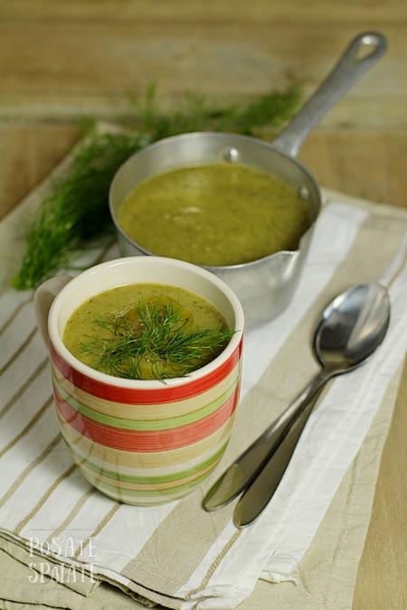 La crema verde di finocchi e sedano, per non buttare via niente