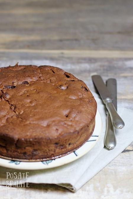 Torta Pere e Cioccolato senza burro_Posate Spaiate