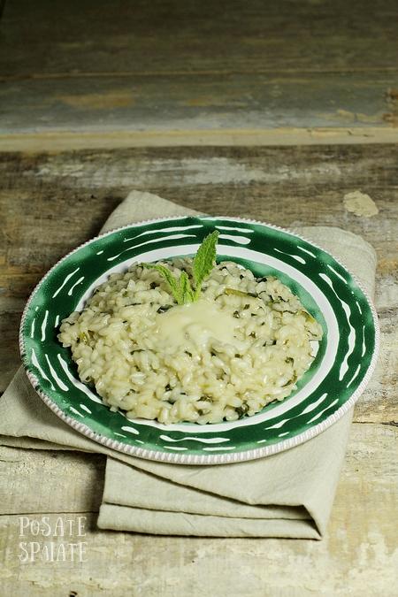 Il risotto con la borragine e il gorgonzola di Novara