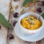 Zuppa con zucca, castagne e riso