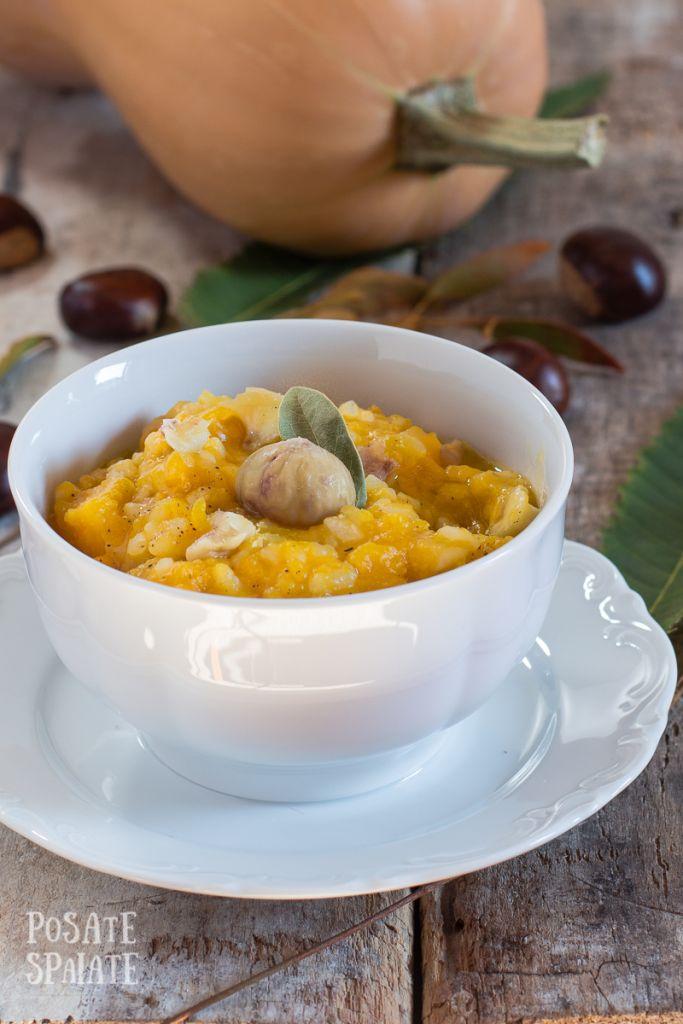 Zuppa con zucca, castagne e riso_Posate Spaiate