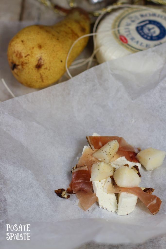 Robiola con pere e speck al forno_Posate Spaiate