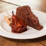 Torta pere e cioccolato con le martin sec al vino rosso e spezie