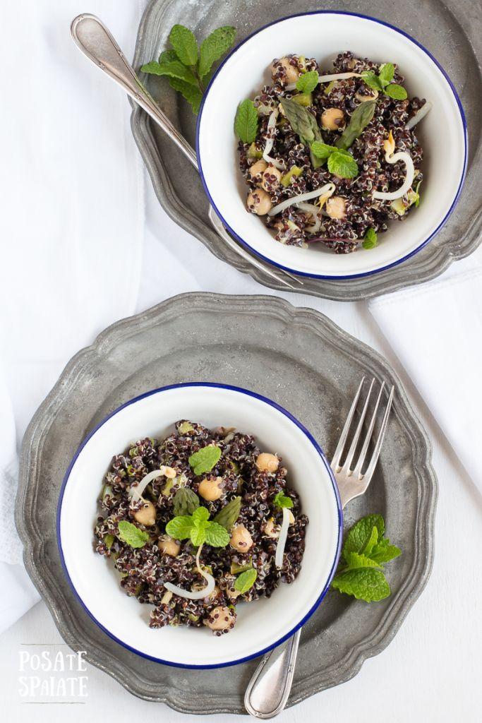 Quinoa nera con asparagi_Posate Spaiate