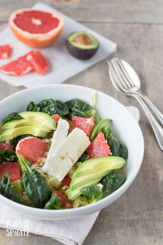 insalata con avocado e pompelmo_Posate Spaiate