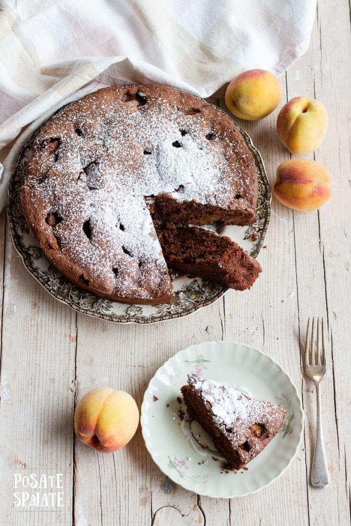 Torta cioccolato e pesche_Posate Spaiate